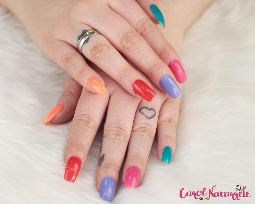 unhas coloridas